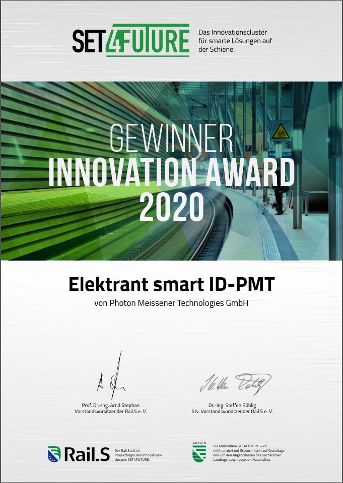 Elektrant Smart ID Gewinner des SET4FUTURE Innovation Awards 2020